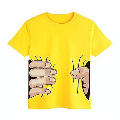 Unisexo Camiseta Diário Esportes Escola Verão Algodão Manga Curta Branco Preto Vermelho Amarelo Azul Claro