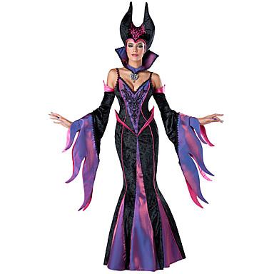 Čerodějnice Cosplay Kostýmy Dámské Halloween Festival / Svátek Halloweenské kostýmy Fialová Ostatní