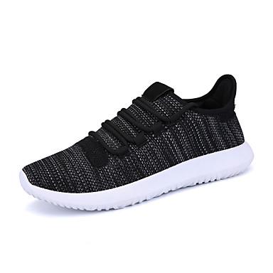 Homens sapatos Tule Primavera Outono Conforto Tênis Caminhada Cadarço para Atlético Casual Escritório e Carreira Branco Preto Khaki