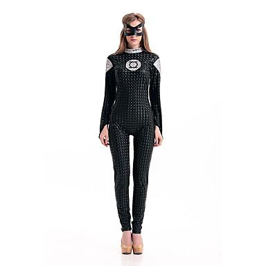 Cosplay Kostüme Superheld Fest/Feiertage Halloween Kostüme Andere Gymnastikanzug/Einteiler Augenmaske Halloween Frau Elasthan Terylen