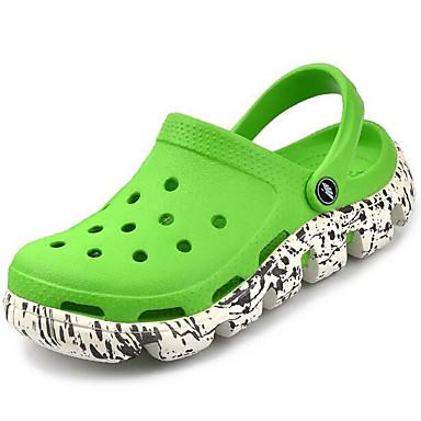 남성 구두 실리콘 봄 구멍 신발 커플 신발 샌들 캐쥬얼 용 블랙 레드 그린