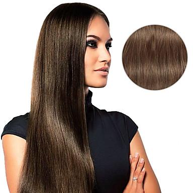 Klipp På Hairextensions med menneskehår Rett Hairextensions med menneskehår Ekte hår Dame
