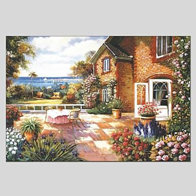 Pintados à mão Paisagem Panorâmico horizontal, Clássico Modern Tela de pintura Pintura a Óleo Decoração para casa 1 Painel