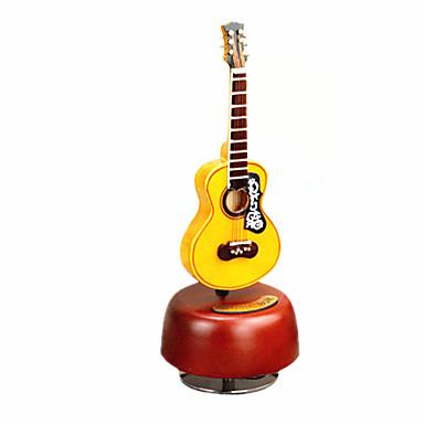 Caixa de música Madeira Instrumentos Musicais Guitarra Rotativo O Castelo no Céu Presente Unisexo Dom