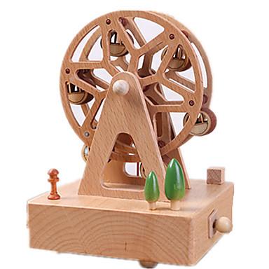 Caixa de música Forma Cilindrica Roda gigante Presente Rotativo Crianças Adulto Infantil Dom Madeira Unisexo