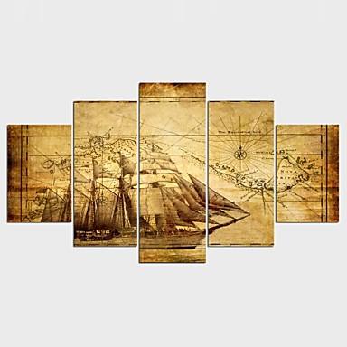 Estampados de Lonas Esticada Vida Imóvel Modern, 5 Painéis Tela de pintura qualquer Forma Estampado Decoração de Parede Decoração para