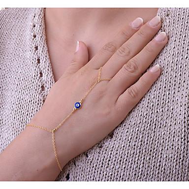 Γυναικεία Βραχιόλια με Αλυσίδα   Κούμπωμα Δαχτυλίδια με Βραχιόλι κυρίες  Μποέμ Μπόχο Βραχιόλια Κοσμήματα Χρυσό   9ee5981e867