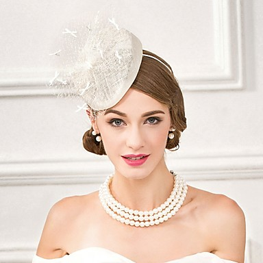 ألياف الكتان قبعات مع 1 زفاف / مناسبة خاصة / فضفاض خوذة