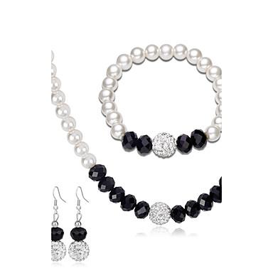 Mulheres Conjunto de jóias - Pérola Fashion, Euramerican Incluir Brincos / pulseira / Colar com Pérolas Branco Para Casamento / Festa / Aniversário / Noivado / Presente / Diário