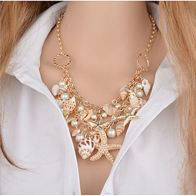 Mulheres Diamante sintético Gargantilhas / Colares com Pendentes / Colares Declaração - Original, Turco Branco Colar Para Presentes de