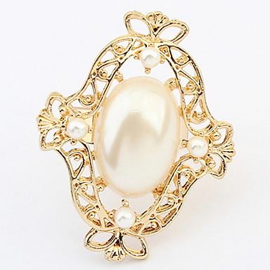 Damen Bandringe Ring Imitierte Perlen Personalisiert Einzigartiges Design Logo Stil Klassisch Retro Böhmische Grundlegend USA Langlebig