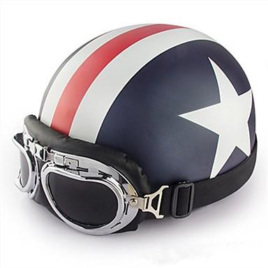 캡틴 아메리칸 패턴 유연한 복근 거리 오토바이 헬멧과 반 얼굴 오토바이 헬멧