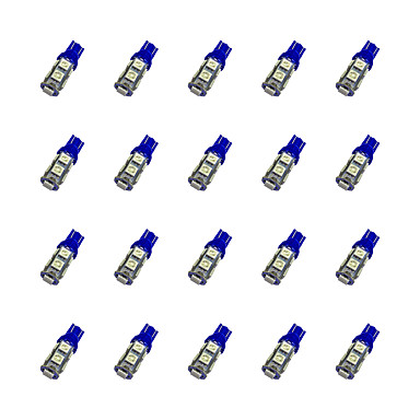 20pcs T10 Carro Lâmpadas 1.2W SMD 5050 85lm LED Lâmpada de Seta For Universal