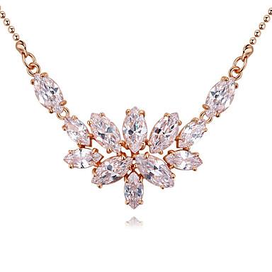 Dámské Geometrie Náhrdelníky s přívěšky - Pozlacené Luxus, Jedinečný design, Visací Zlatá, Stříbrná, Růžové zlato Náhrdelníky Pro Vánoční dárky, Svatební, Párty