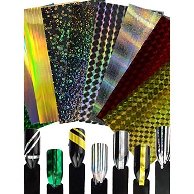 1 pcs 패션 반짝이는 & Poudre / 3D 네일 스티커 일상