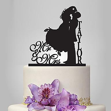 كعكة توبر الحديقةGarden Theme / كلاسيكيClassic Theme كلاسيكي زوجين أكريليك زفاف / الذكرى السنوية / مباركة عروس مع 1 pcs OPP