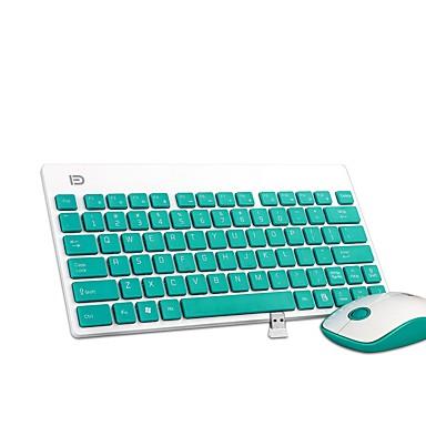 K1500 ultra silencioso portátil botton escritório sem fio teclado e mouse combo