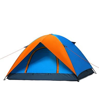 WOLF WALKER® 3-4 사람 텐트 더블 베이스 캠핑 텐트 원 룸 자외선 방지 용 캠핑 여행 CM