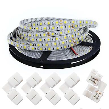 Faixas de Luzes LED Flexíveis 300 LEDs Branco Quente Branco Verde Amarelo Azul Vermelho DC 12V