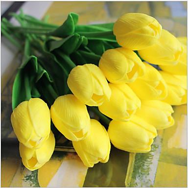 Flores artificiais 5 Ramo Estilo Europeu Tulipas Flor de Mesa