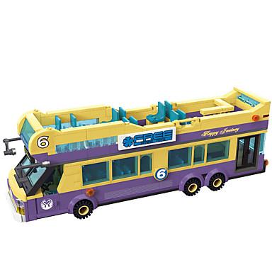 ENLIGHTEN Carros de Brinquedo / Blocos de Construir / Brinquedo Educativo 455 pcs Ônibus Clássico Para Meninos Dom