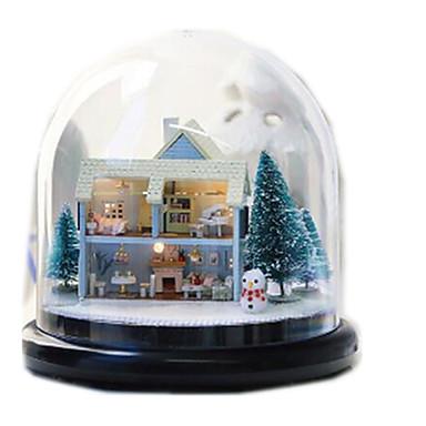 인형의 집 장난감 원형 나무 조각 남여 공용 선물