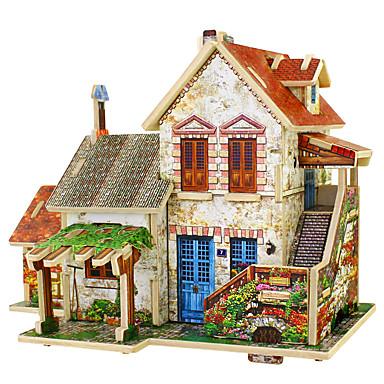 voordelige 3D-puzzels-3D-puzzels Modelbouwsets Huis Plezier Hout 1 pcs Klassiek Kinderen Speeltjes Geschenk