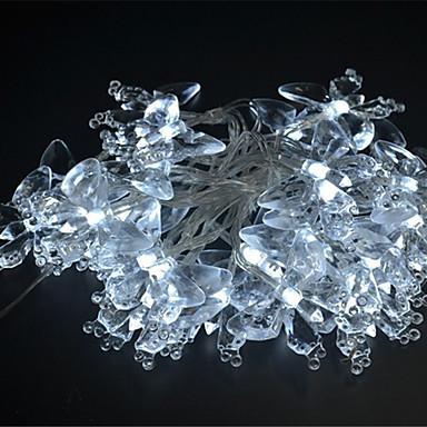 4m Leuchtgirlanden 40 LEDs Weiß Mehrfarbig Lila Gelb Blau <5V