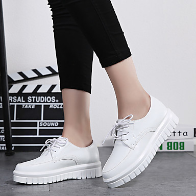 carrière Gladiateur Femme Bureau Lacet 05797755 Chaussures Habillé pour Automne Cuir Evénement Blanc amp; Printemps Basket et Noir Décontracté Soirée rrPfAq4n