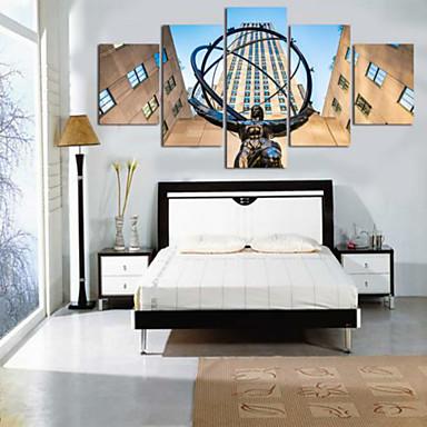 Reprodukce umění Krajina Moderní,Pět panelů Horizontálně Tisk Art Wall Decor For Home dekorace