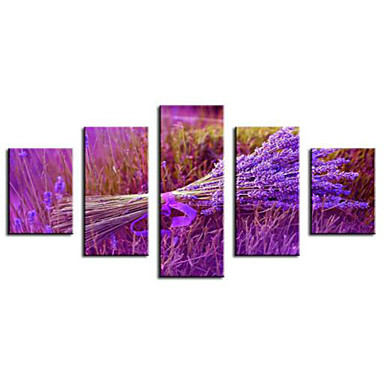 Reprodukce umění Květinový/Botanický motiv Pastýřský,Pět panelů Horizontálně Tisk Art Wall Decor For Home dekorace
