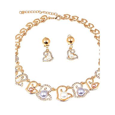 Mulheres Imitação de Pérola Imitação de Pérola Formato de Laço Conjunto de jóias 1 Colar 1 Par de Brincos - Fashion Formato de Laço