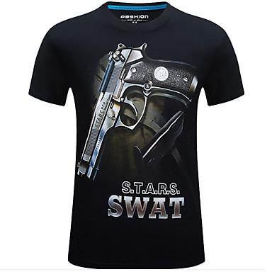 Camiseta de Caçador Homens Mulheres Unisexo 3D Confortável camuflagem Blusas Manga Curta para Caça
