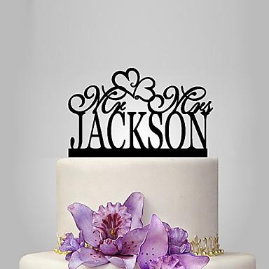 Decorações de Bolo Tema Jardim / Tema Clássico / Tema rústico Acrílico Casamento / Aniversário / Chá de Cozinha com PPO