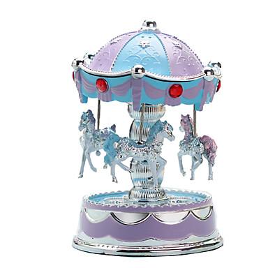 Caixa de música Carrossel / Merry Go Round Fofinho / Iluminação Plástico Estilo Europeu Crianças / Adulto / Infantil Unisexo Dom