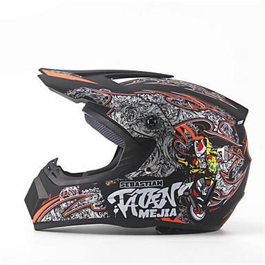 povoljno Motori i quadovi-ahp 225 motocikl kaciga za motocikle odrasle osobe off - road kaciga potpuno lice utrkivanje stil / durable fluorescentno crna