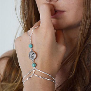 Dame Ringarmbånd - Europeisk Armbånd Sølv Til Daglig / Avslappet