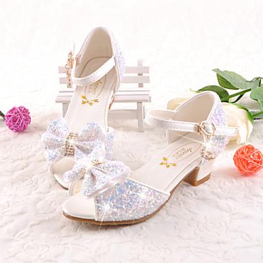povoljno Dječje sandale-Djevojčice Mikrovlakana Sandale Mala djeca (4-7s) / Velika djeca (7 godina +) Udobne cipele / Inovativne cipele / Obuća za male djeveruše Hodanje Mašnica / Kopča Obala / Plava / Pink Ljeto / EU37