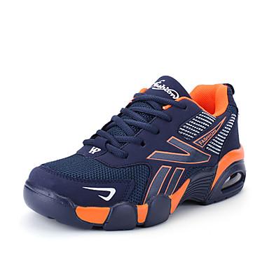 للرجال النعال الخفيفة شبكة ربيع / صيف مريح / أحذية الزوجين أحذية رياضية الركض أزرق داكن / أزرق / أسود وأبيض