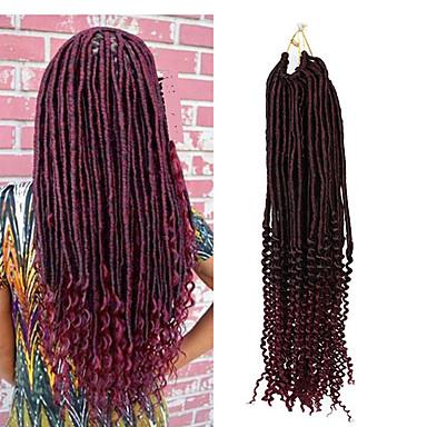Encaracolado Deep Twist Crochê Curva Bouncy Dreads Falsos Entrelaçados Falsos Deads Extensões Dreadlock 100% cabelo kanekalon Dreadlocks