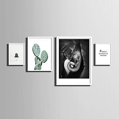 E-HOME® Framed Canvas Art Simple Natural Scenery And Plant Series (2 ...