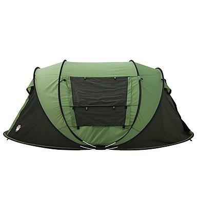 3-4 Pessoas Tenda Duplo Barraca de acampamento Um Quarto Barraca pop-up para Campismo Viajar 2000-3000 mm 200*280*120 CM