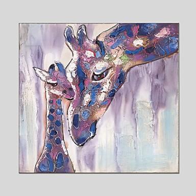 Pintura a Óleo Pintados à mão - Animais Clássico / Modern Tela de pintura / Lona esticada
