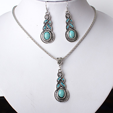 Mulheres Gema Conjunto de jóias 1 Colar 1 Par de Brincos - Euramerican Fashion Caído Conjunto de Jóias Para Festa Diário