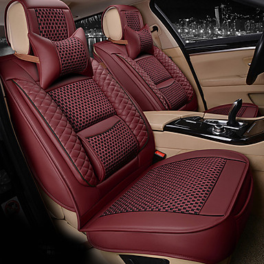 cheap Car Seat Covers-ODEER Car Seat Covers Seat Covers Beige / Coffee / Red PU(Polyurethane) Business For Universal