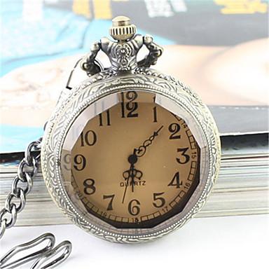 Недорогие Женские часы-Муж. Карманные часы Наручные часы Кварцевый Серебристый металл Повседневные часы Аналоговый Мода Элегантный стиль - Кофейный