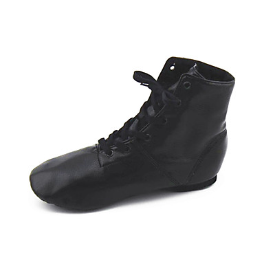 cheap Jazz Shoes-Women's Jazz Shoes Leather Boots Flat Heel Non Customizable Dance Shoes Black / Red / Pink / Performance / EU43