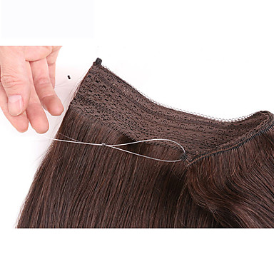 18inch secert Invisible Wire Human Hair Extensions 100%real Human Hair 100grams