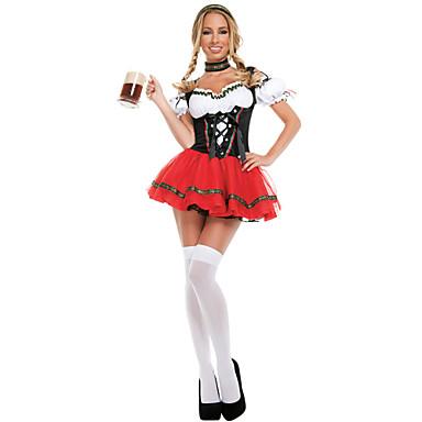 Ternos de Empregadas / Oktoberfest / Bavarian Fantasias de Cosplay Mulheres Dia Das Bruxas / Oktoberfest Festival / Celebração Trajes da