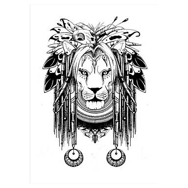 Tatuointitarrat Eläinsarja Non Toxic Kuvio Alaselkä WaterproofNaisten Miesten Aikuinen Flash Tattoo väliaikaiset tatuoinnit